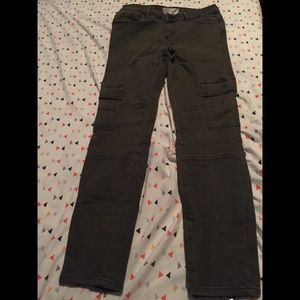 Olive green Skinny cargo jeans by PacSun
